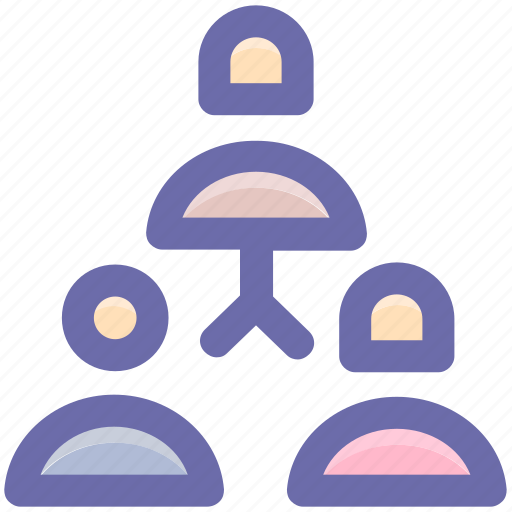 business, connection, employees, group, networking, team, users icon