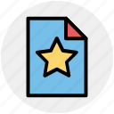 bookmark page, document, favorite, file, page, paper, star icon