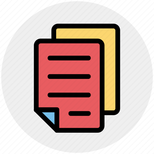 documents, files, notes, pages, papers, sheets icon