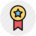 award, badge, bravery, medal, premium, rank, star icon