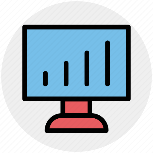 chart, diagram, graph, lcd, lcd graph, monitor, statistic icon