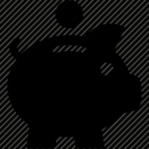 bank, coin, guardar, money, pig, piggy, save icon