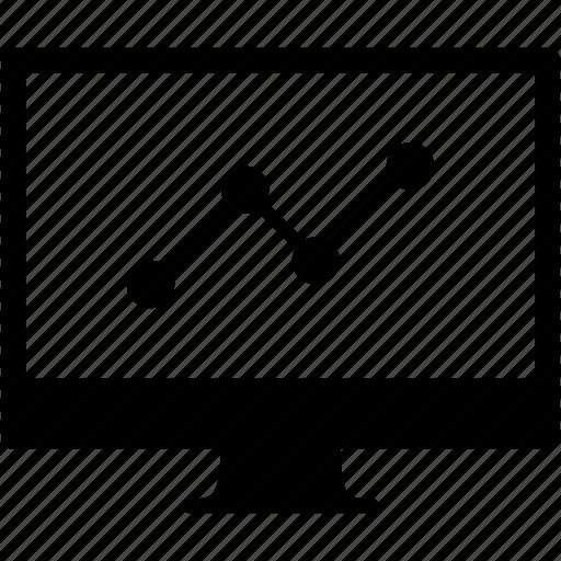 chart, diagram, display, graph, monitor, screen, statistics icon