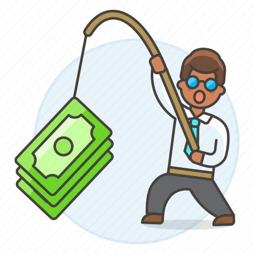 business, crime, fishing, growth, incentive, man, money, phishing, profit, success icon