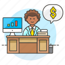 accountant, accounting, adviser, books, business, expense, financial, graph, income, invoicing, man, money icon