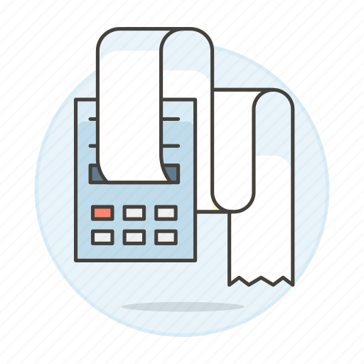 accounting, billing, business, expenses, finance, income, invoicing, machine, print, receipt icon