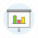 bar, business, chart, graph, presentation, projection, projector, screen icon