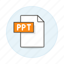 business, file, format, microsoft, pc, point, power, ppt, presentation, slides icon