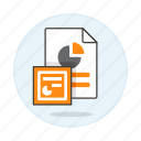 3, business, file, format, microsoft, pc, point, power, ppt, presentation, slides icon