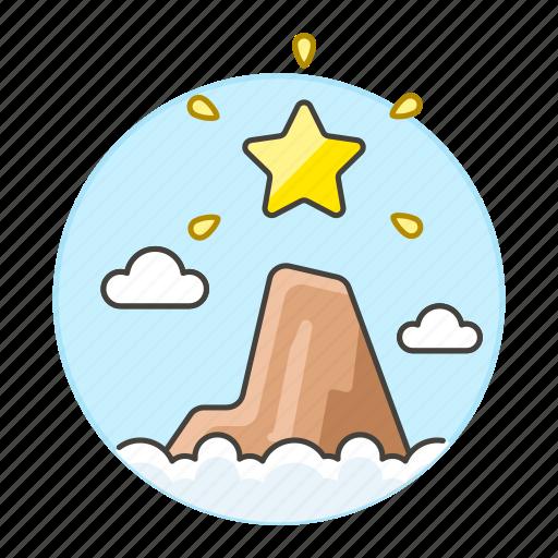 business, goal, gold, growth, level, mountain, peak, profit, star, success, summit, top icon