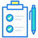 cardboard, checklist, items, list, star, to do list icon
