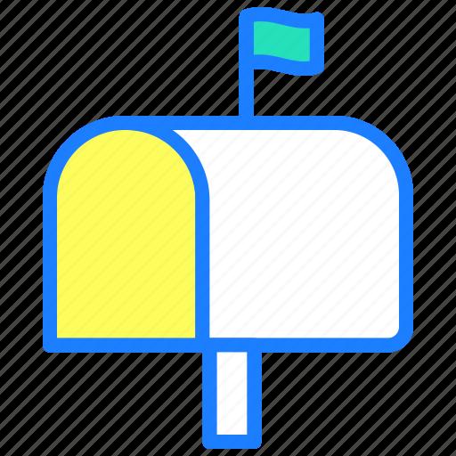 envelope, inbox, message, post, postbox icon