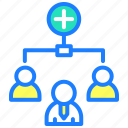 add people, hierarchy, management, people, person, users icon