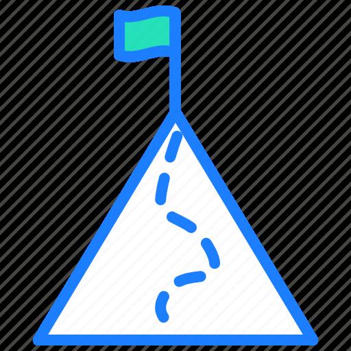 arrow, direction, flag, milestone, success, target icon