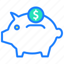 bank, budget, finance, fund, payment, piggy bank, transfer icon