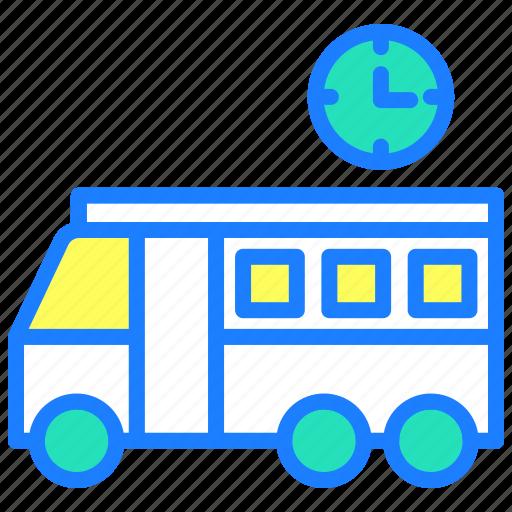 bus, delivery, school, transport, travel, van, vehicle icon