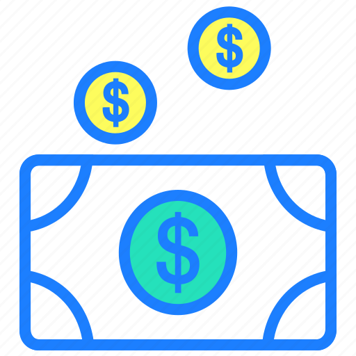 cash, currency, fall, money, payment, price, reduce cost icon