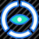 analytics, business, chart, diagram, eye, report, statistics icon