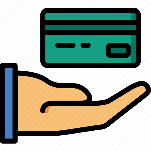 business, card, credit, finance, give, marketing icon