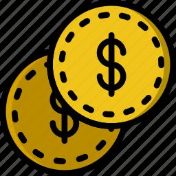 business, dollars, finance, marketing icon
