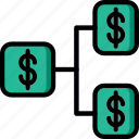 business, finance, marketing, money, tree icon