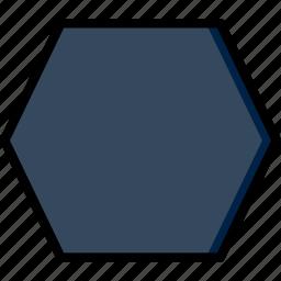 design, graphic, hexagone, tool icon