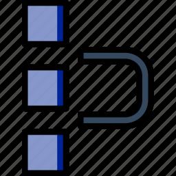 align, art, design, graphic, grid, tool icon