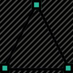 design, edit, graphic, line, tool, triangle icon