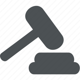 business, court, finance, hammer, office icon
