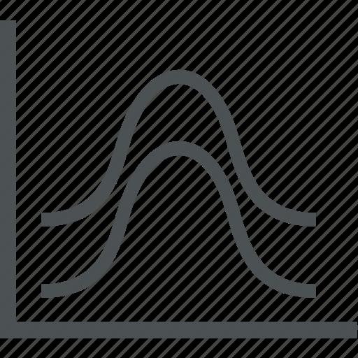 business, commerce, diagram, finance, graph icon
