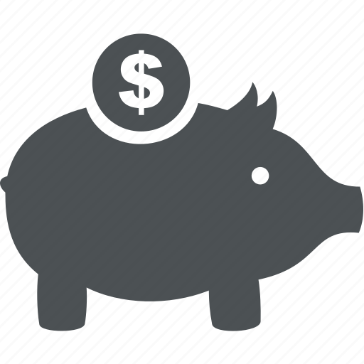 business, cash, commerce, dollar, finance, money, pig icon