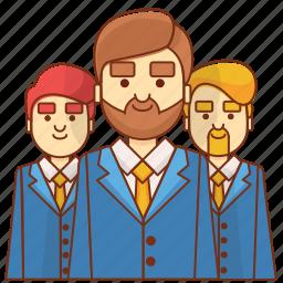 businessman, customer, leader, leadership, marketing, team, teamwork icon
