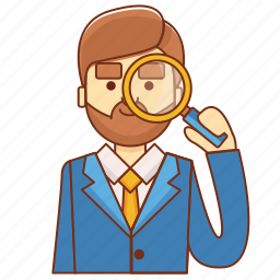 boss, businessman, hire, market research, marketing, search, target market icon