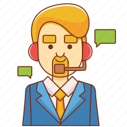businessman, communication, consultant, contact, customer service, help, support icon