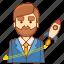 business, businessman, finance, launch, marketing, rocket, startup icon