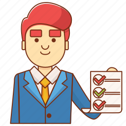 business, businessman, check, document, finance, list, note icon