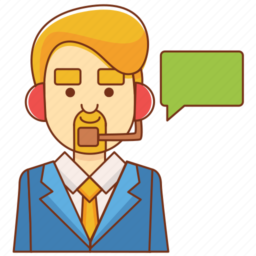 businessman, communication, consultant, customer service, help, message, support icon