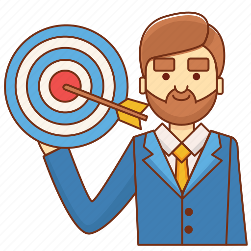 business, businessman, goal, startup, target, target market, targeting icon