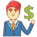 business, businessman, dollar, finance, idea, invest, marketing icon