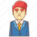 business, businessman, decrease, finance, investor, marketing, sad icon