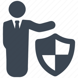 business, businessman, insurance, investment, security, shield icon