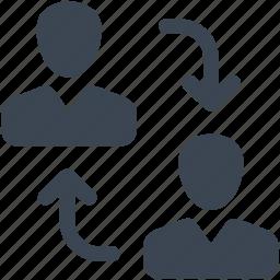collaboration, communication, conversation, coworking, management, profile, reload icon