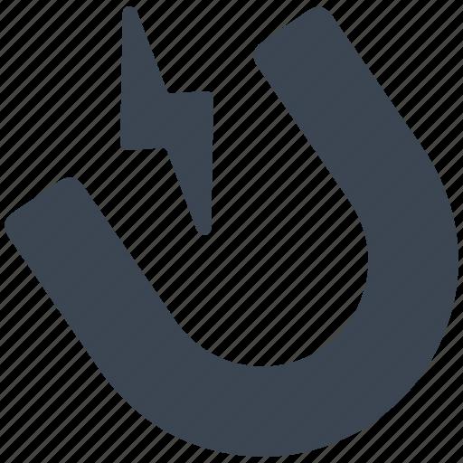 horse shoe, horseshoe, magnet icon