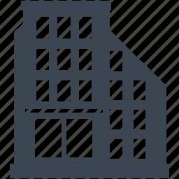 apartment, architecture, building, city, construction, estate, hotel icon