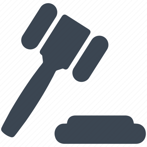 gavel, justice, law, tribunal icon