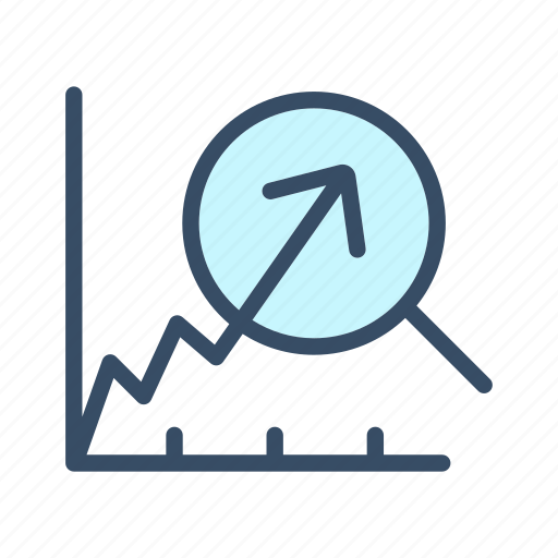 analyze, data, economy, growth, increase, rewenue growth, statistics icon