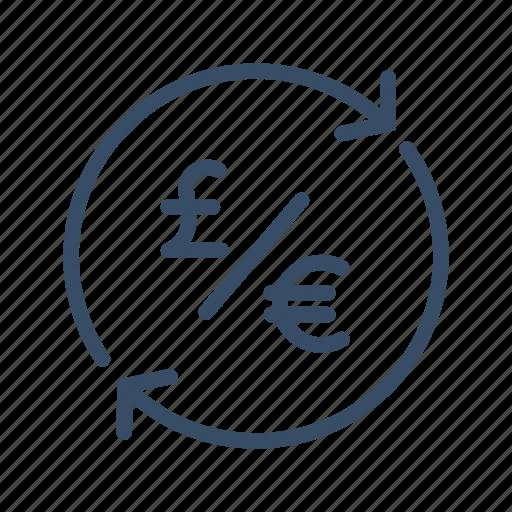 conversion, euro, exchange, finance, money, pound, transfer icon