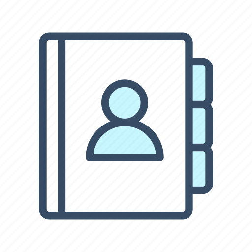 address book, addresses, contact, diary, directory, list icon