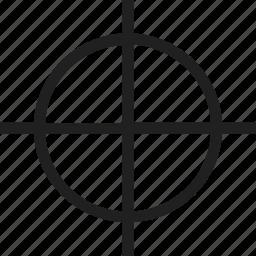 circle, cross, plus, target icon