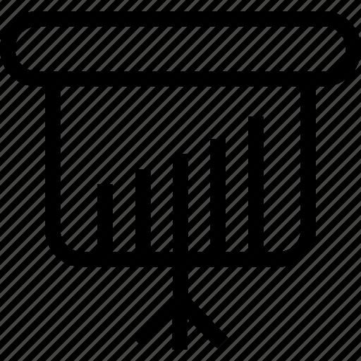 board, chart, graph, pillar, tower icon